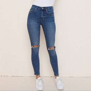 Garage Retro High Waisted Distressed Skinny Jeans